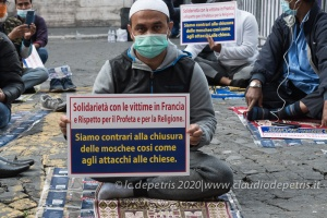 Roma 30/10/2020: Islamophobia is not freedom