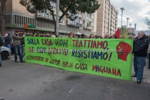 manifestazione per il diritto all'abitare, magliana 17/4/2014
