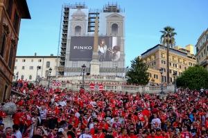 tifosi del bayern a piazza di spagna 21/10/2014