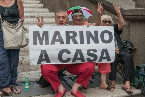 """Manifestazione della lista """"Noi con Salvini"""" in Campidoglio, 23/6/2015"""