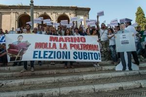 """""""Marino game over"""" piazza del Campidoglio 2/7/2015"""