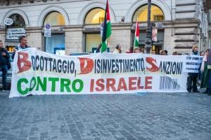 manifestzione rete romana solidarietà col popolo di Palestina 16/10/2015