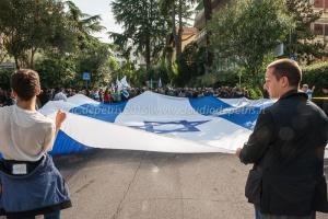 Presidio davanti l'Ambasciata di Israele 18/10/2015
