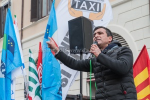 Presidio dei tassisti romani contro Uber, 26/1/2016