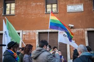 Presidio in difesa dei diritti civili, Piazza delle Cinque Lune 10/2/2016