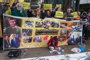 Presidio in favore di Giulio Regeni di fronte al Consolato Egiziano, 25/2/2016