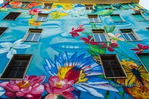 Street art liceo scientifico Caravaggio Roma, 4/5/2016