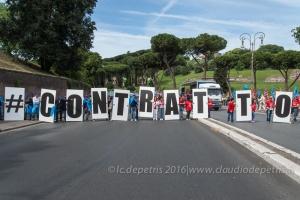 Manifestazione CGIL-CISL-UIL funzione pubblica a Roma, 25/5/2016