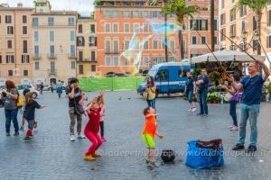 Flash mob bolle di sapone a Roma, 12/6/2016