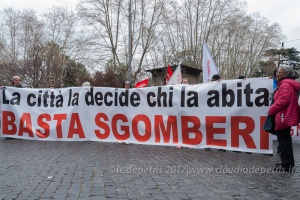 Roma: protesta dei Movimenti per il Diritto all'Abitare, 18/3/2017