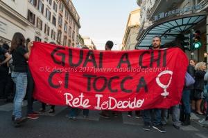 Roma 21/9/2017: No violenza maschile sulle donne