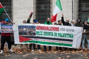 Roma:La comunità palestinese contro Trump