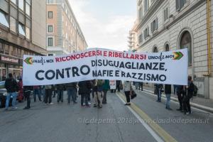Roma 1/12/2018, manifestazione contro il razzismo
