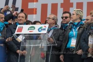 Roma 9/2/2019, manifestazione nazionale Cgil-Cisl-Uil