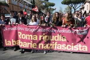 Roma, 22/3/2019 studenti ricordano l'Eccidio delle Fosse Ardeatine