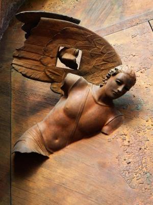 santa maria degli angeli, particolari portone