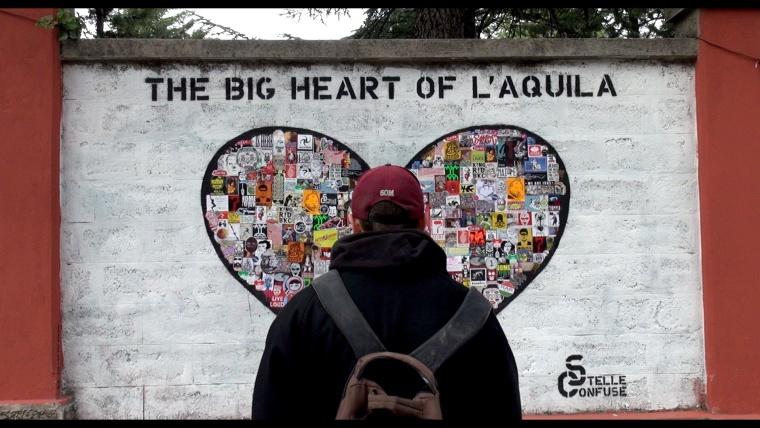 The big heart of L'Aquila
