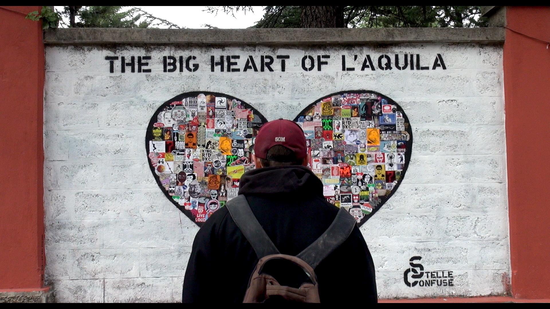 The big heart of L'Aquila, Documentario The big heart of L'Aquila - Regia Flaminio Muccio | Il sogno di un ragazzo di sedici: diventare un grande street artist.