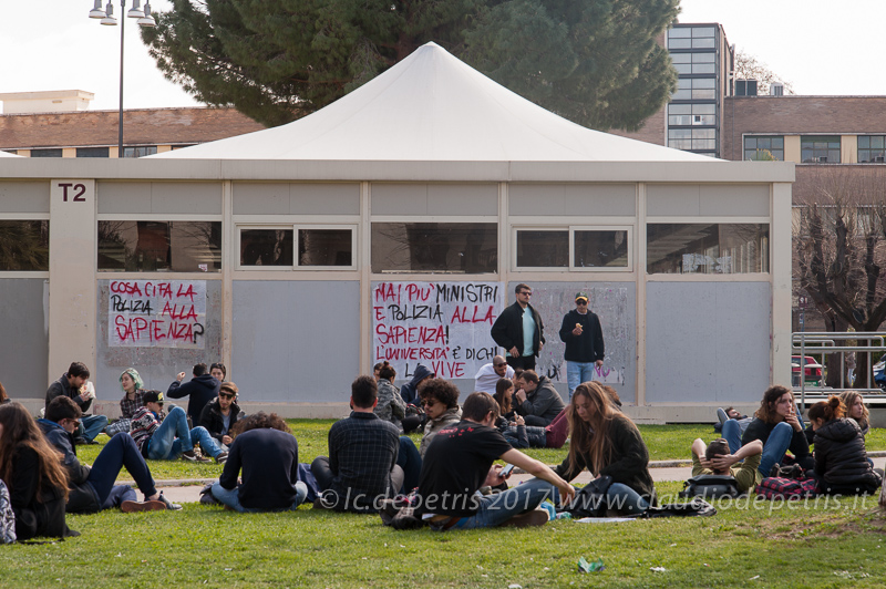 Protesta di un gruppo studenti universitari, 15/3/2017