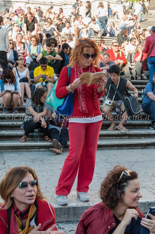 Flash Mob degli insegnanti in Piazza di Spagna contro il DDL  del governo Renzi sulla scuola pubblica 28/5/2015.