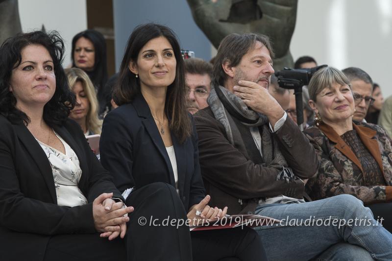 Eleonora Guadagno (S), Virginia Raggi e Luca Bergamo