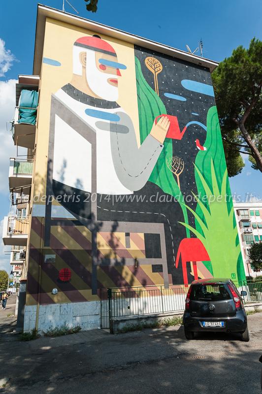street art san basilio 8/9/2014