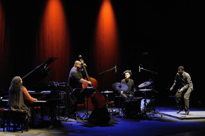 geri allen & timeline, auditorium parco della musica 6/12/2011 - geri allen piano, dwayne contrabbasso, kasse overall batteria, marice chestnut tip-tap