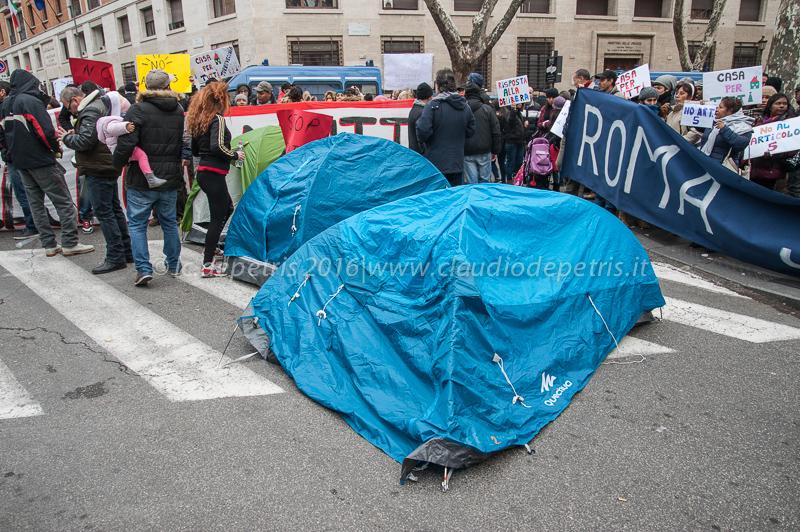 Presidio movimenti per l'abitare, Roma 23/1/2016