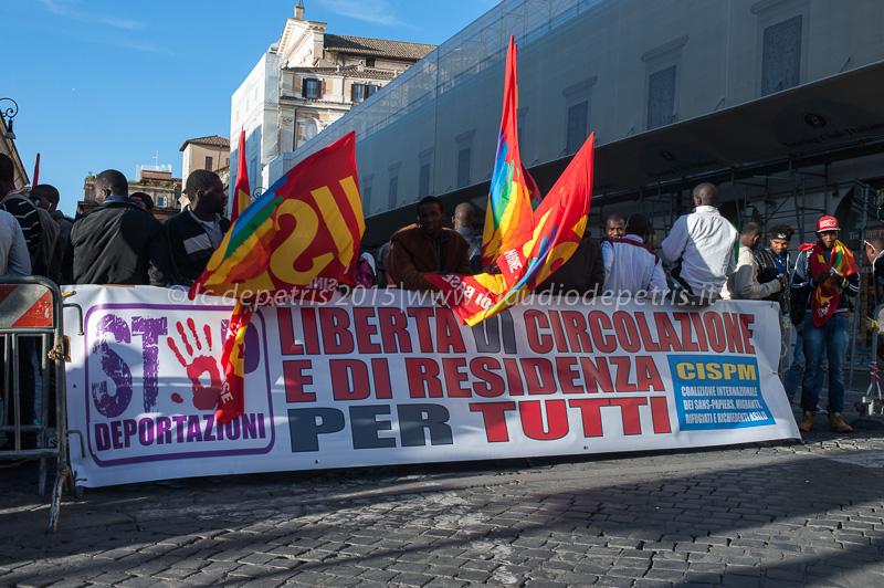 Presidio Sans Papiers-Migranti 22/10/2015