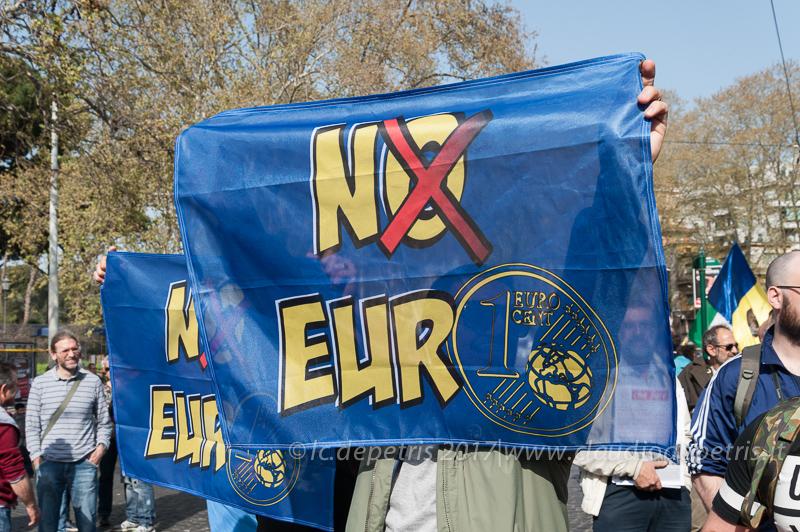 Roma: No Euro, No UE,  No NATO 25/3/2017