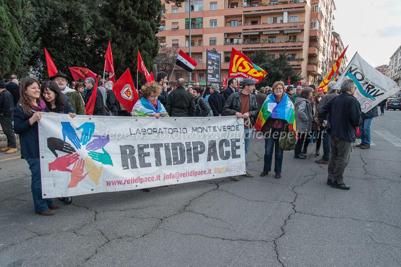 Manifestazione contro la guerra in Libia 12/3/2016