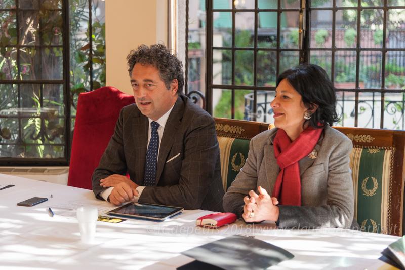 Giuseppe Grmani Sindaco di Orvieto e Alessandra Cannistrà Assessore alla Cultura Comune di Orvieto