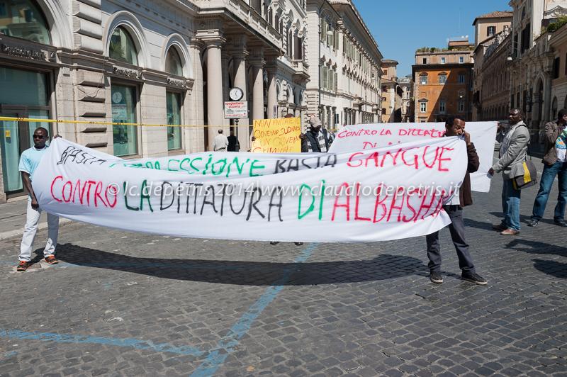 flash mob pro darfur, piazza s.s. apostoli 8/5/2014