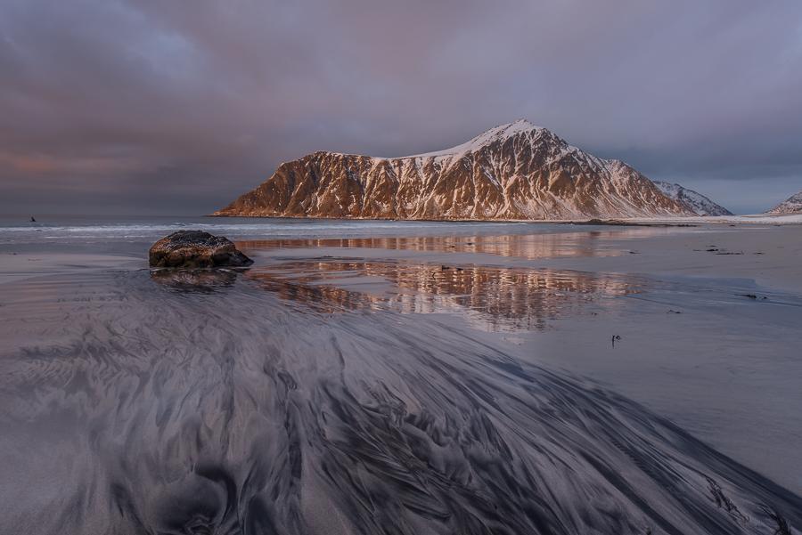 Tramonto, Flakstad, Lofoten, Norvegia - (Sunset, Flakstad, Lofoten, Norway)