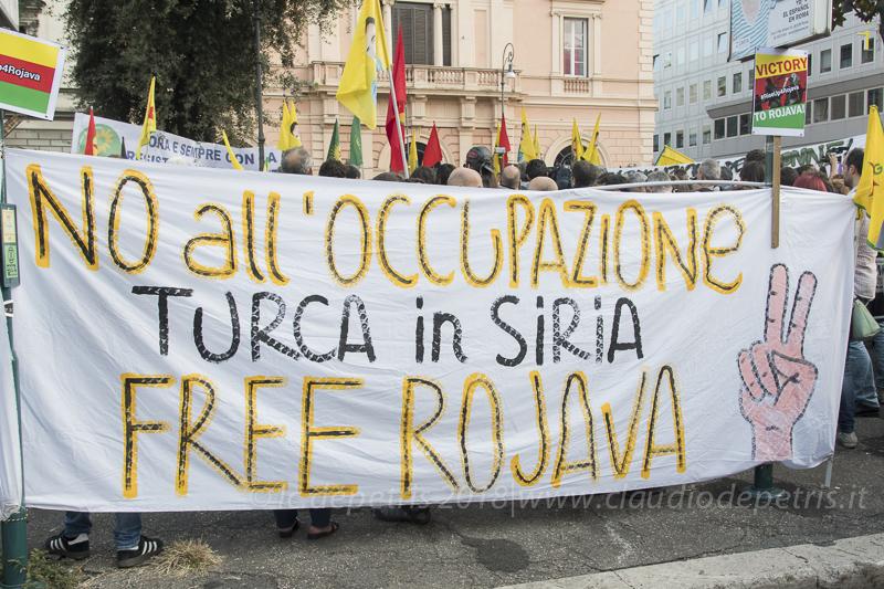 Roma: manifestazione contro la Turchia