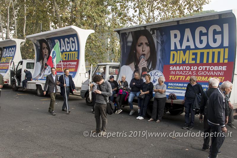 Roma 19/10/2019 Il Centro-Destra si raduna a piazza San Giovanni