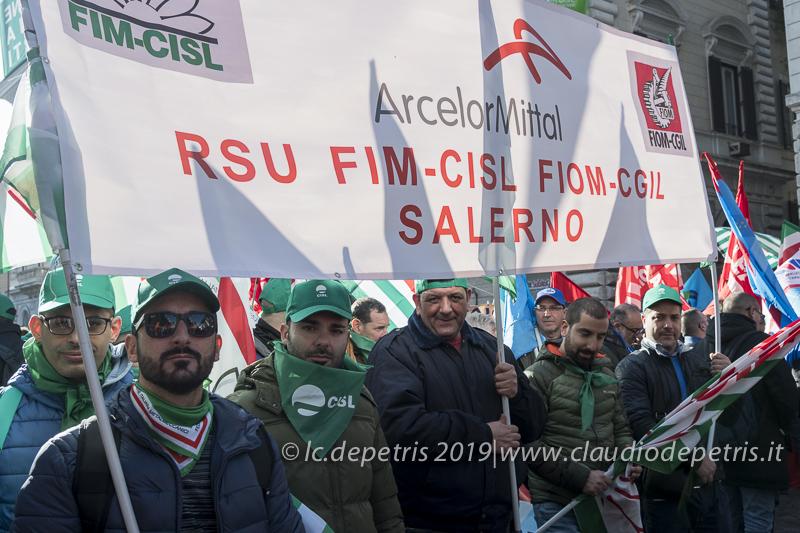 Roma, 10/12/2019 manifestazione CGIL-CISL-UIL