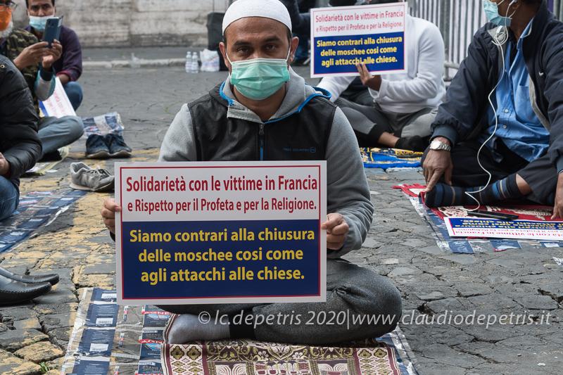 Roma 30/10/2020: Islamophobia is not freedom