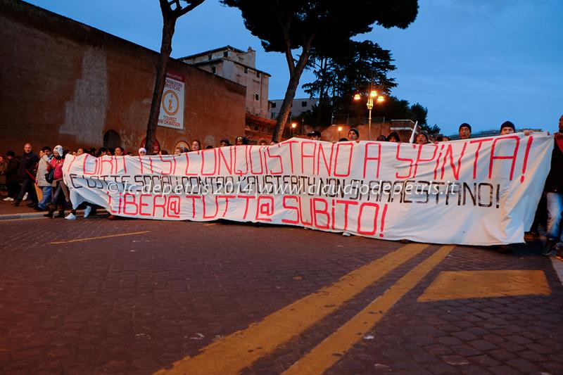 manifestazione per il diritto all'abitare 27/2/2014