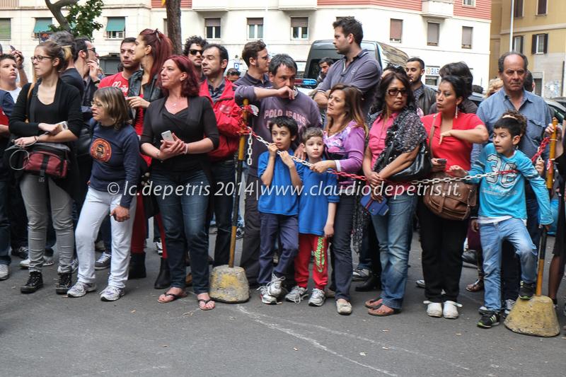 presentazione nuova maglia a.s. roma 2014/2015, piazza ragusa 28/5/2014