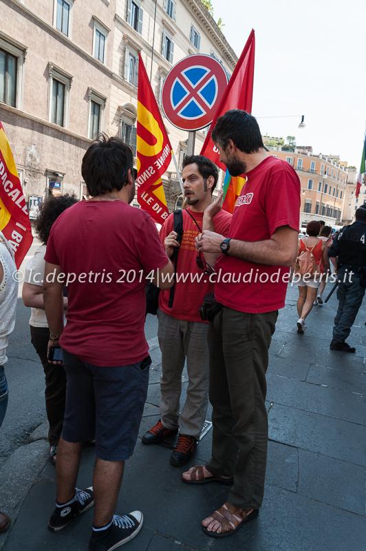 manifestazione usb funzione pubblica 12/6/2014