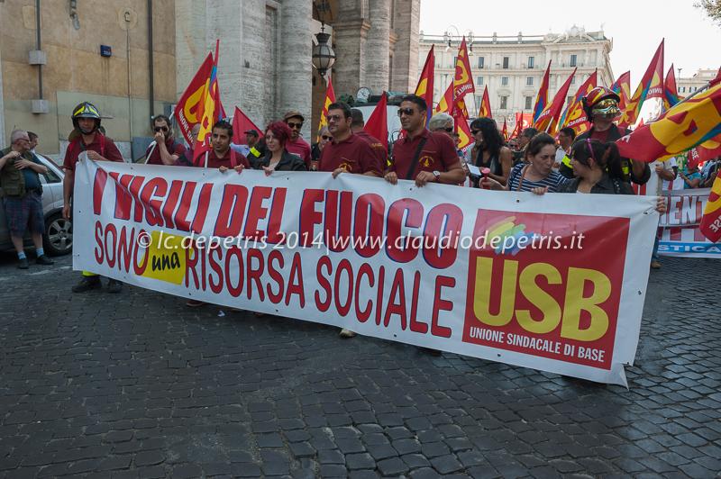 manifestazione antagonisti contro unione europea 28/6/2014