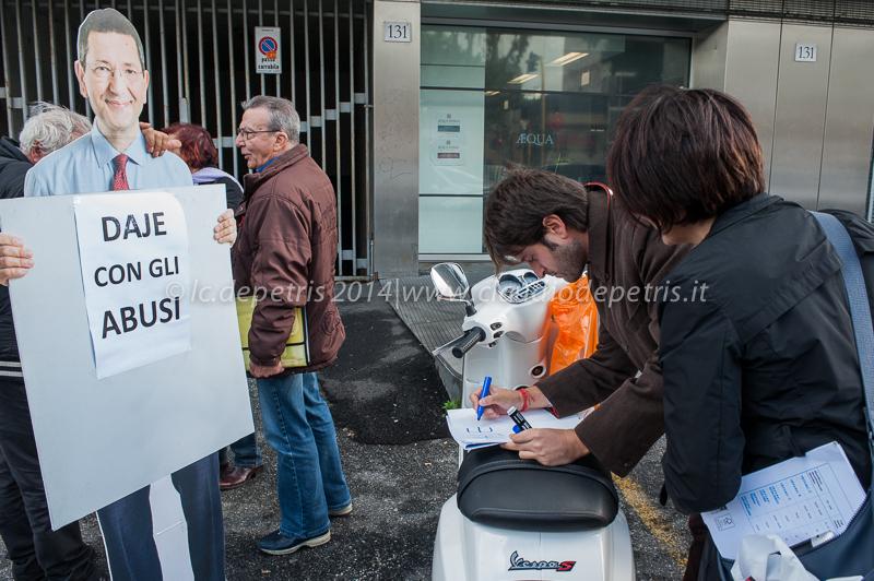 manifestazione contro marino 18/11/2014