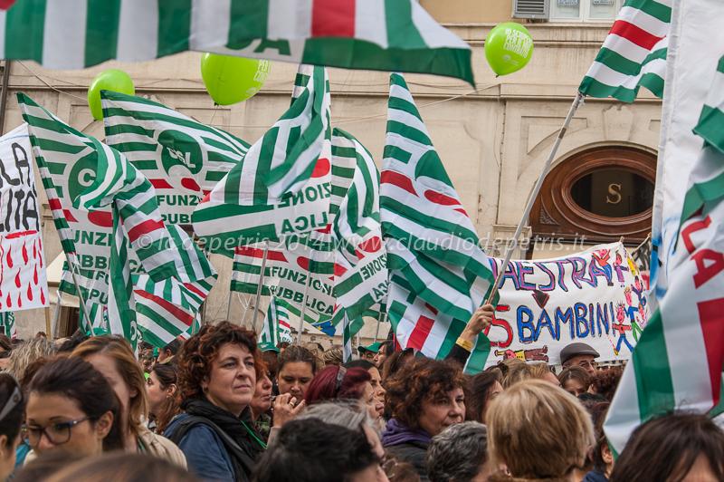 sciopero nazionale cisl 1/12/2014, manifestazione piazza montecitorio