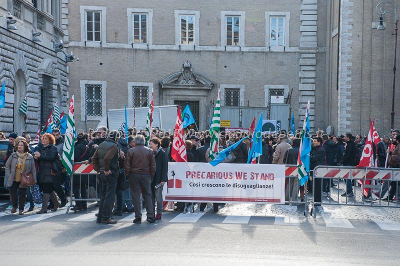 Sit in Sindacati pubblico impiego a Palazzo Vidoni 24/11/2015