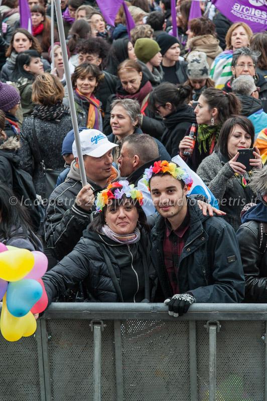 Manifestazione nazionale  a Roma in difesa dei diritti civili, 5/3/2016