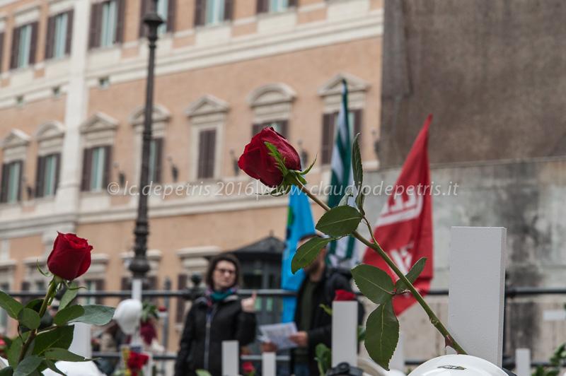 Basta morti sul lavoro, piazza Montecitorio 28/4/2016