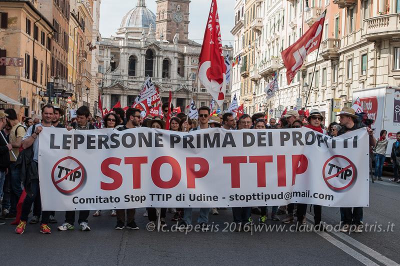 Manifestazione nazionale contro TTIP, Roma 7/5/2016