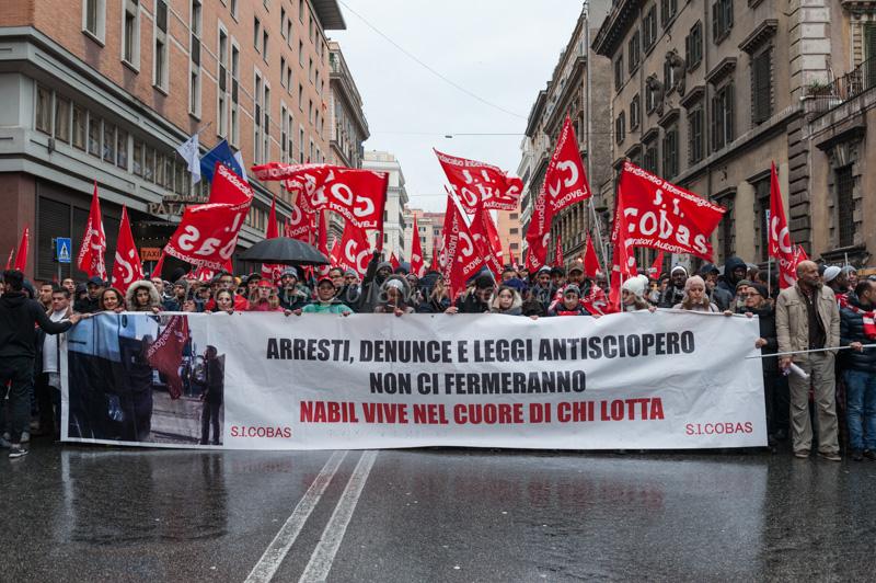 Roma 24/2/2017, dimostrazione per il lavoro