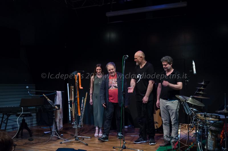 Giovanni Lo Cascio (D), Mario Rivera, Mario Crispi e Anita Vitale